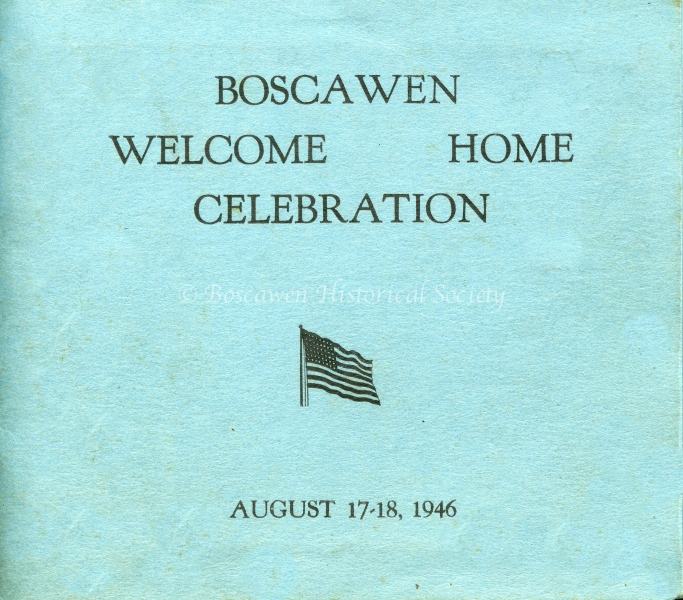 1946 Welcome Home Celebration Program